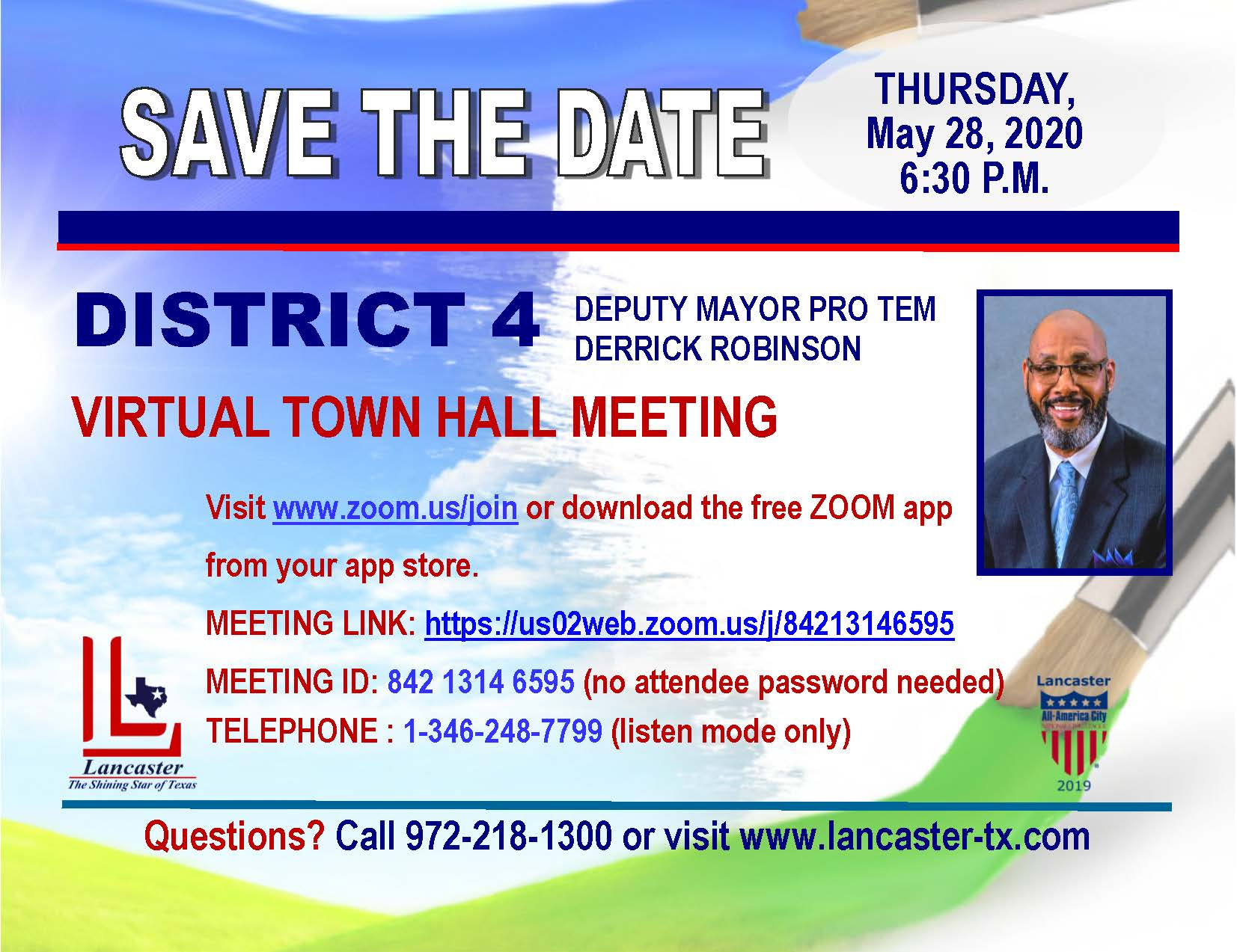District 4 Town Hall Postcard Final
