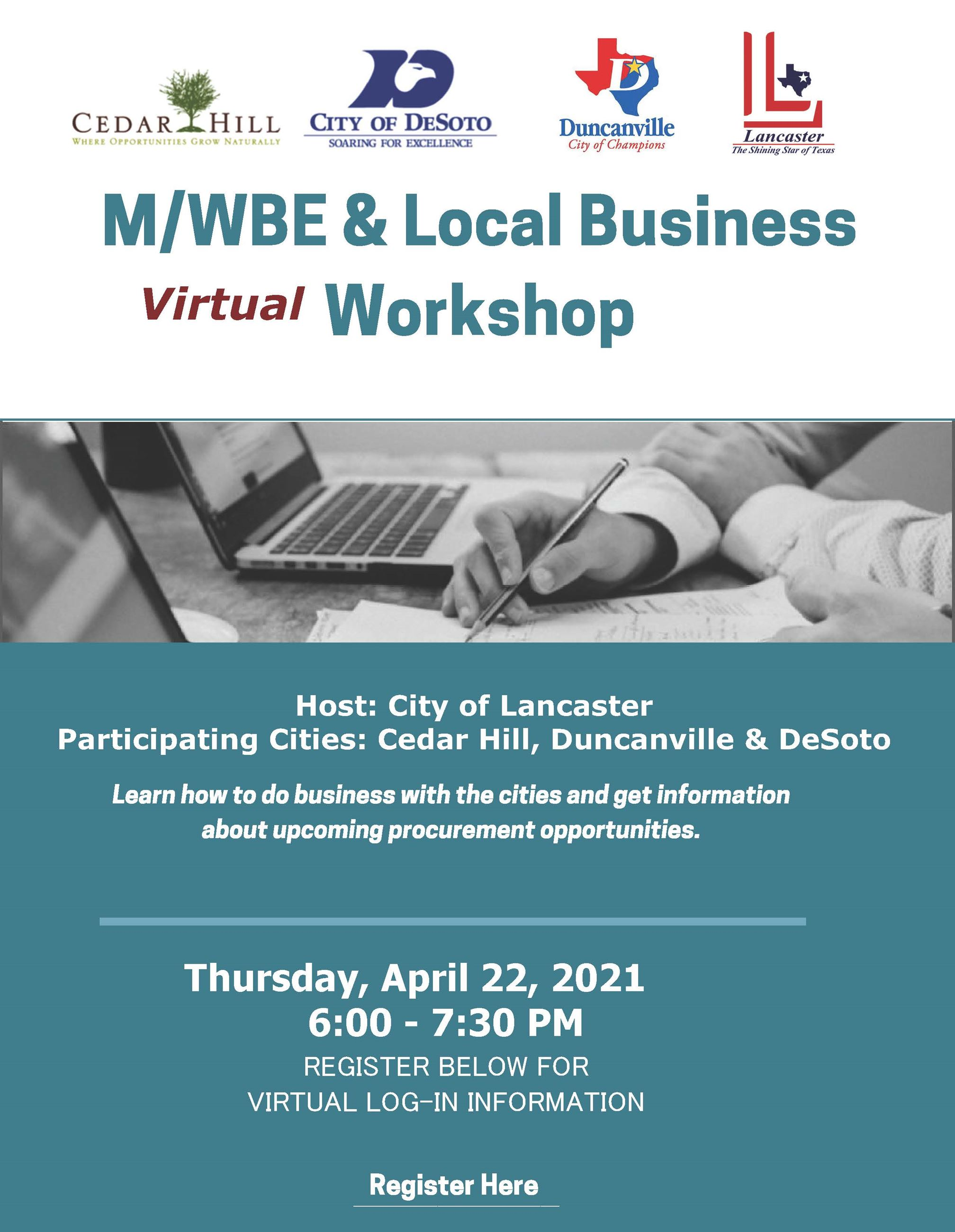 April 2021 MWBE Workshop Flyer