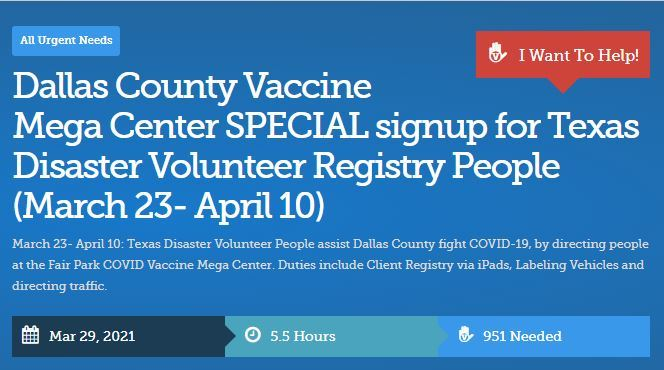 Volunteers Needed for Vaccinations